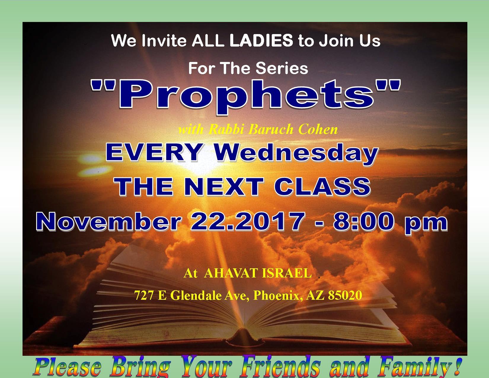 11.22. CLASS FOR WOMEN (PROPHET)